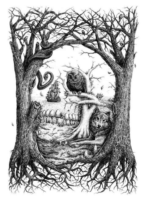 Images About Drawing Nature Pinterest How