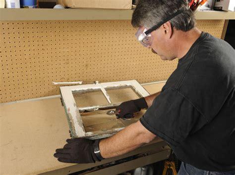 replace  broken glass pane   wood frame window dummies
