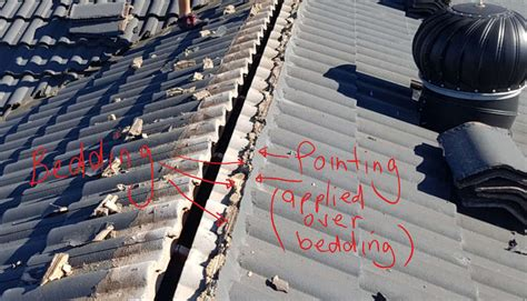 bedding  pointing   tile roof  sydney