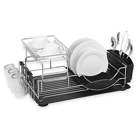home basics  tier deluxe dish drainer bed bath