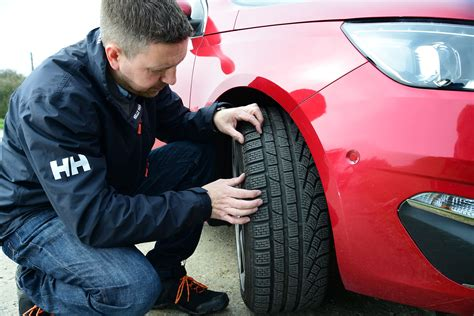 tyre pressures  tread depths  safety check guide