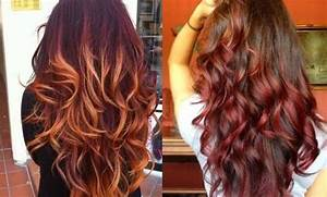 Image Gallery ombre hair auburn
