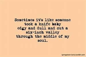 """""""Sometimes... Knife Song Quotes"""