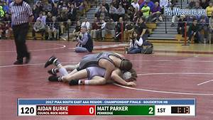 2017-03-04 120 lbs Matt Parker (Pennridge) vs Aidan Burke ...
