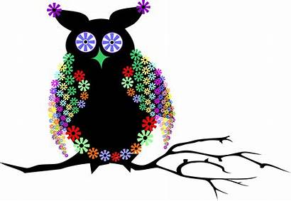 Vector Owl Abstract Clipart Floral Vectors Domain