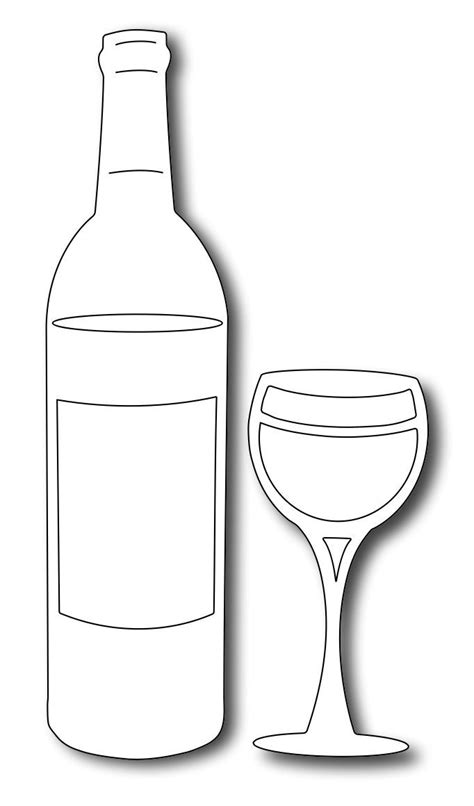 bottle template free template wine bottle and glass search cricut template bottle and wine