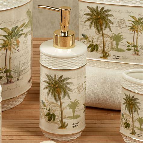 hawaiian bathroom decor tropical bathroom accessories colony palm tree tropical bath accessories themed rooms playful