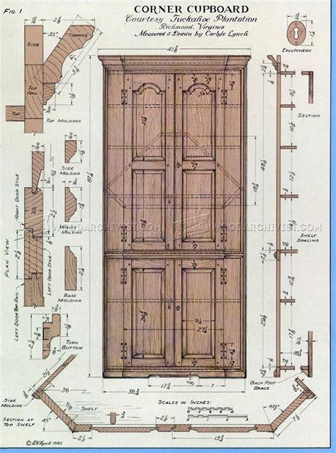 corner cupboard plans woodarchivist