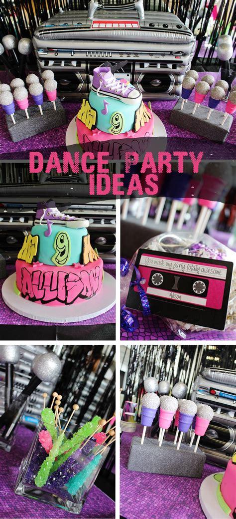 dance party ideas allisons hip hop party party ideas