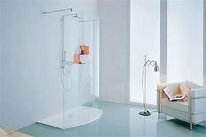 Barre De Douche Arrondie : cabine de douche walk in paroi de douche dimension carrelage ~ Premium-room.com Idées de Décoration