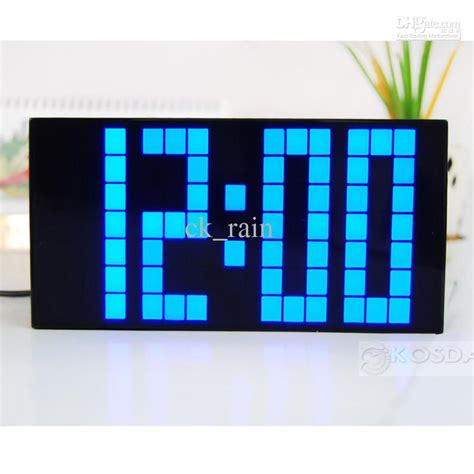 large led jumbo alarm wall clock countdown display digital