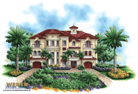 mediteranean house plans luxury mediterranean house plan dal mar house