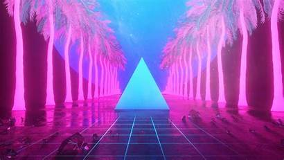 Neon 4k Miami Triangle Artwork Trees Wallpapers