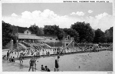 piedmont park parking deck drive piedmont park bathing pool postcard