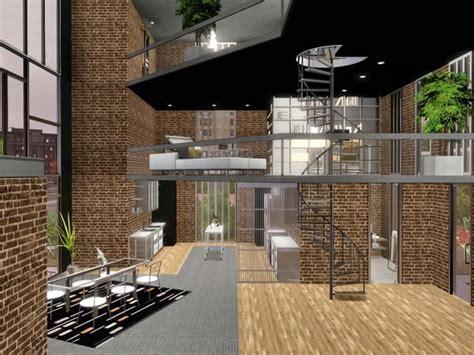 sims resource tsr metro modern  story loft home  chemy interior design loft