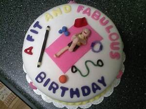 Fitness Themed Birthday Cake - CakeCentral com