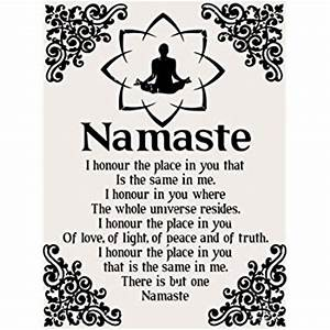 Amazon com: Namaste Metal Sign, Health and Well-being