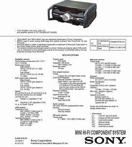 Hcd-sh2000 Fst-sh2000 Diagrama Sony