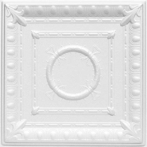 Styrofoam Ceiling Tiles Home Depot Canada by A La Maison Ceilings Romanesque 1 6 Ft X 1 6 Ft Foam