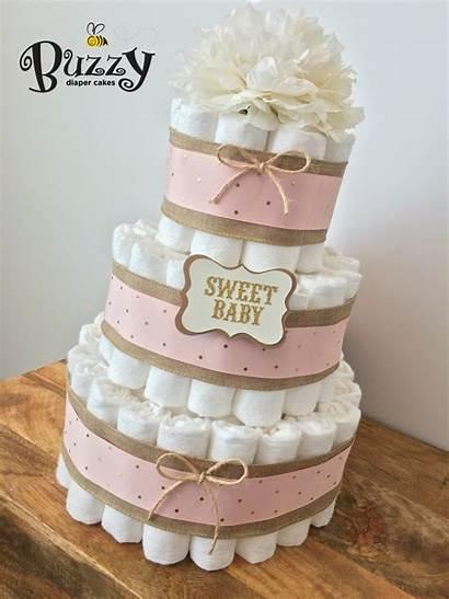 Shower Cake Diaper Cakes Burlap Gold Showers