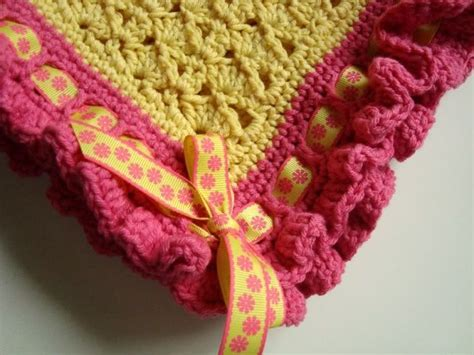 Ribbon & Ruffles Baby Blanket Free Crochet Pattern. Love The Color And Design And Matching Orange Baby Blankets Homemade Crochet Aiden And Anais Muslin Carhartt Blanket Lined Black Microplush Photo Afghan How Much Is An Electric Discount