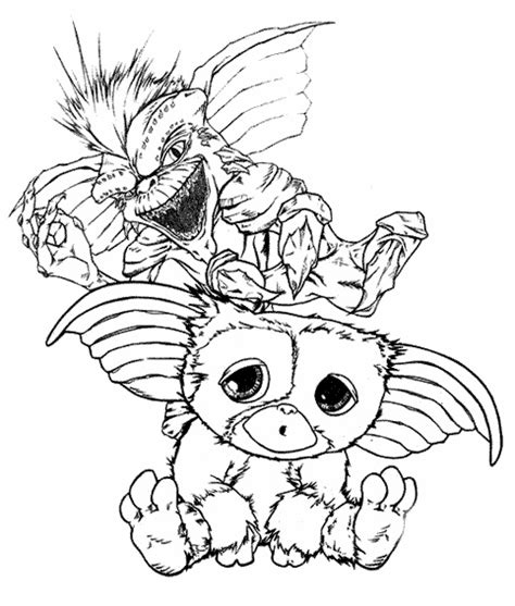 Gizmo Kleurplaat by Gizmo Gremlins Coloring Pages Gremlins Coloring Pages