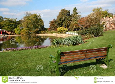 garden with a lake royalty free stock photo image 21603015