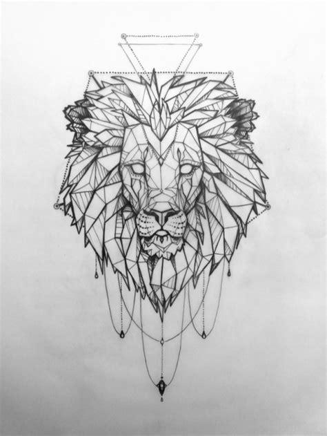 geometric lion tumblr