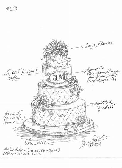 Cake Drawing Sketch Template Sketches Jessica Cakes