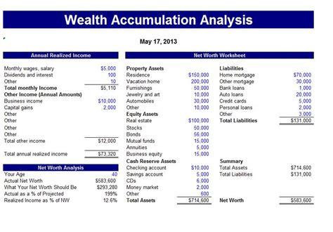 wealth accumulation calculator
