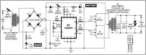 Circuit Diagram Of 600va Inverter by Circuit Diagram For Ups For Cordless Telephones