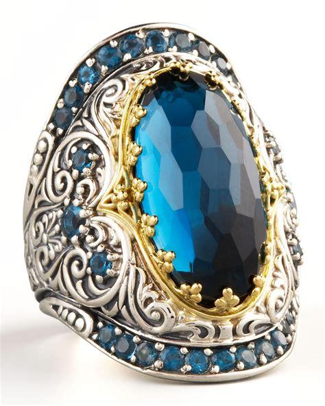 lyst konstantino london blue topaz ring  blue