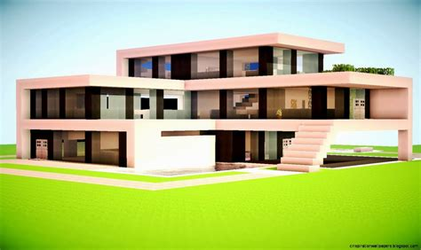 minecraft modern house designs inspiration wallpapers