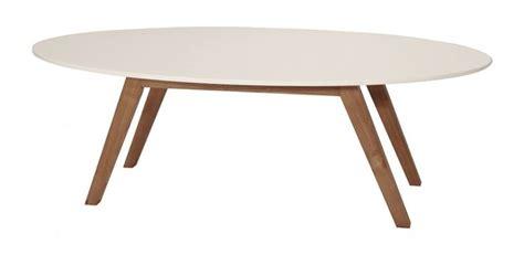 table basse ovale design ida blanc et bois d h 233 v 233 a design d and tables
