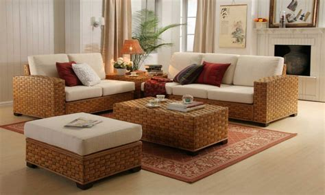 contemporary room design ideas indoor  rattan living