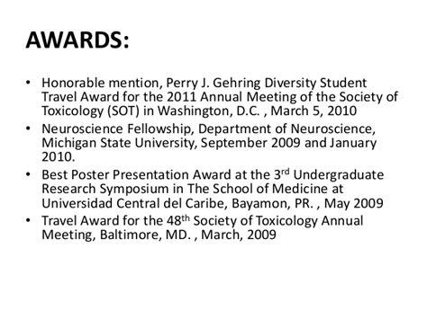 resume awards and acknowledgements revising my curriculum vitae