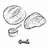 Bread Drawn Yeast Sketch sketch template