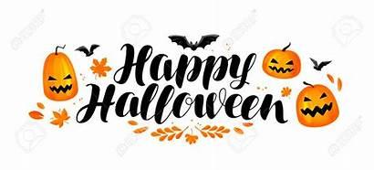 Halloween Happy Banner Scritta Break Clipart Term