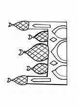 Mosque Coloring Drawing Pages Template Getdrawings Drawings Sketch Paintingvalley sketch template