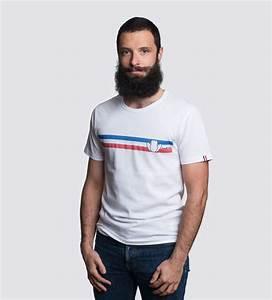 T Shirt Homme Blanc : le vintage 2 0 t shirt imprim homme blanc coton bio tranquille mile ~ Melissatoandfro.com Idées de Décoration