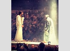 Kanye West wears intricate masks and finds the Messiah as