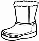 Boots Coloring Boot Winter Snow Pages Rain Drawing Cowboy Clipart Shoes Line Clip Hiver Clothes Activite Printable Cliparts Sheets Clipartmag sketch template