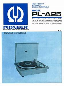 Pioneer Pl-a25 Operating Owners Manual