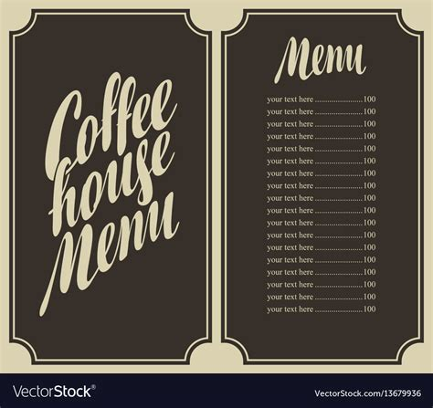 7,000+ vectors, stock photos & psd files. Coffee house menu with cup and price Royalty Free Vector