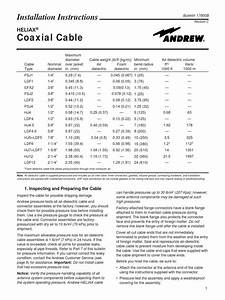 Andrew Coaxial Cable Installation Instructions