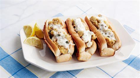 fried oyster po boys recipe video martha stewart