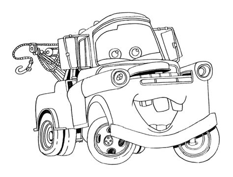 cars characters coloring printable disney cars tow mater coloring pages every