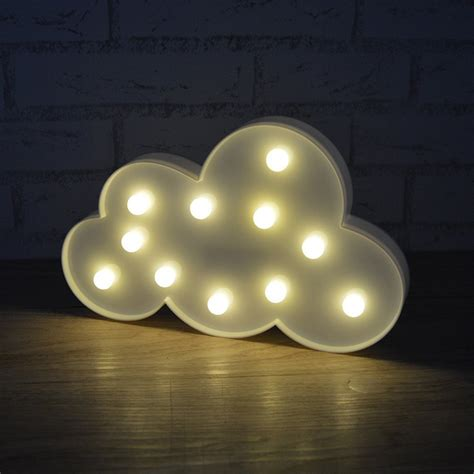 led cloud light 3d led marquee cloud light 11 leds battery operated