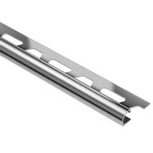 schluter rondec stainless steel 3 16 in x 8 ft 2 1 2 in metal bullnose tile edging trim ro45e