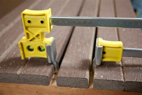 Deck Board Spacers Menards by How To Install Decking With The Proper Spacing Jackcl